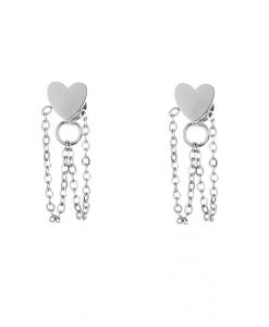 chain oorbellen, schakel, sieraden, dames, accessoires, stargaze, zilver, goud, nikkelvrij, stainless steel, roestvrij staal
