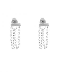 chain oorbellen, schakel, sieraden, stainless steel, roestvrij staal, nikkelvrij, accessoires