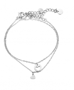 moeder dochter, armbanden, set, sieraden, dames, accessoires, sieraden, hartje, stainless steel, nikkelvrij , roestvrij staal