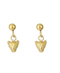 oorhangers, oorbellen met hanger, panter, luipaard, sieraden, dames, accessoires, stainless steel ,roestvrij staal, nikkelvrij
