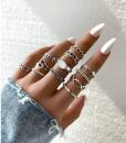 ringen set, knoop, zilver, sieraden, dames, accessoires, leuk, mooi, cadeau