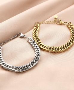 schakelarmband, stainless steel, sieraden, dames, accessoires, goud, zilver, roestvrij staal, nikkelvrij, dames