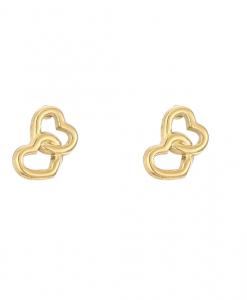 studs oorbellen, hartjes, sieraden, dames, accessoires, goud, stainless steel, oorstekers, roestvrij staal, nikkelvrij