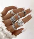 ringen set, sieraden, dames, accessoires, zilver