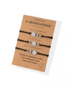 3 generatie armbanden, cirkel, sieraden, dames, cirkel, zilver, accessoires