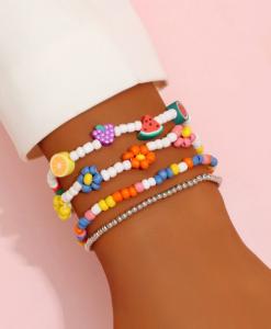 armcandy, armbanden set, armparty, fruit, kralen, sieraden, zomer, accessoires
