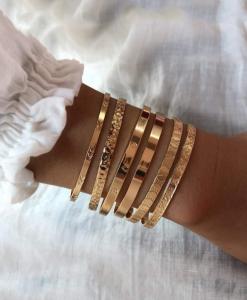 bangle armbanden set, love, sierlijk, mooi, leuk, trendy, sieraden, accessoires, dames, cadeau, vriendin