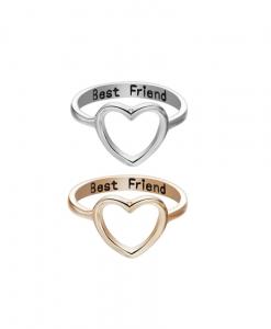 bff ringen set, voor 2, hartje, vriendschap, sieraden, dames, accessoires