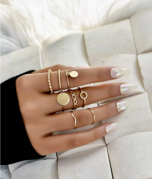 Gouden Ringen Set Munt