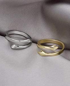 knuffel ringen, set, hug, sieraden, dames, accessoires