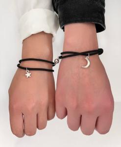 koppel armbanden set, maan, ster, sieraden, hem en haar, stelletjes, relatie, liefdes