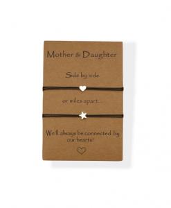 moeder dochter, armbanden, set, moederdag, cadeau, sieraden, mama, accessoires