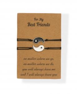 vriendschapsarmbanden, set, sieraden, bff, yin yang, goedkoop, sieraden, accessoires, cadeau