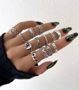 zilver, ringen set, sieraden, dames, accessoires, mooi, leuk, stargaze