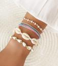 zomerse armbandjes, set, schelpen, touw , kralen, armcandy, sieraden, accessoires