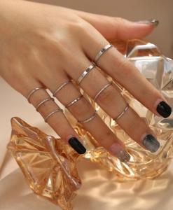 minimalistische ringen set, sieraden, dames, subtiel, fijne, accessoires