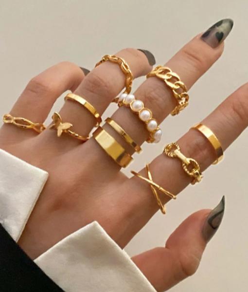 Gouden Ringen Set Brielle
